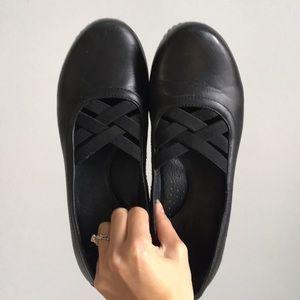 Dansko Leather Heeled Mule Clogs